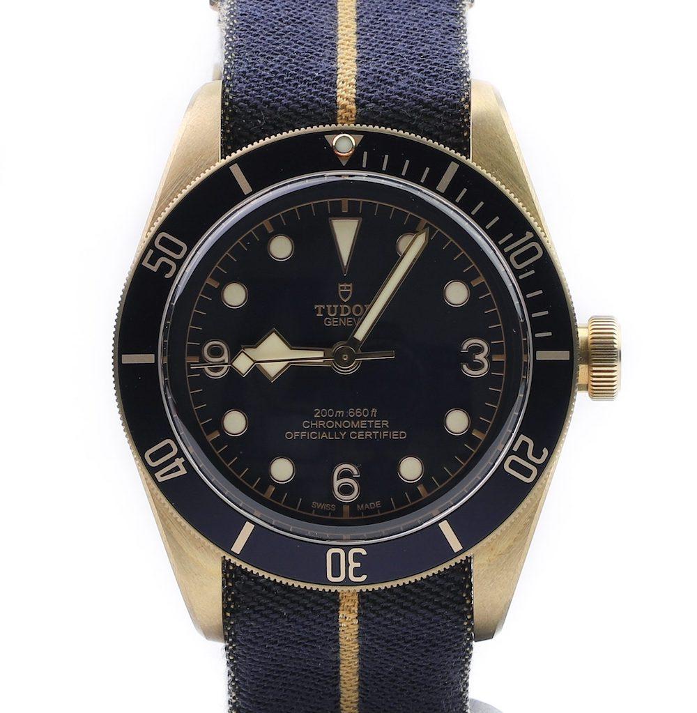 Tudor Heritage Black Bay Bronze Blue Bucherer Edition 79250BB