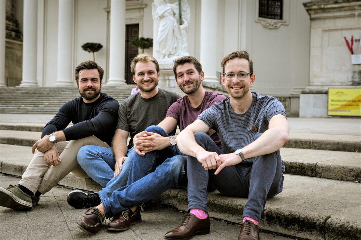 Die vier Gründer von JEDERMANN: Achim Kaucic, Christoph Zonsics, Patrick Favor und Philipp Plettenberg.